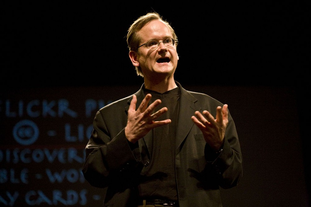 """Larry Lessig gives his last speech on Free Culture at Stanford University."" By Robert Scoble [CC:BY 2.0]"