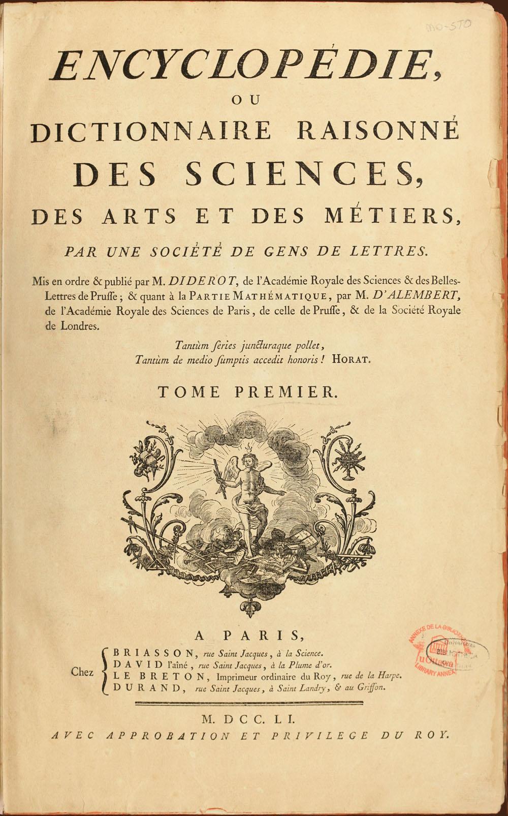 『百科全書』  表紙[Wikimedia Commons より]