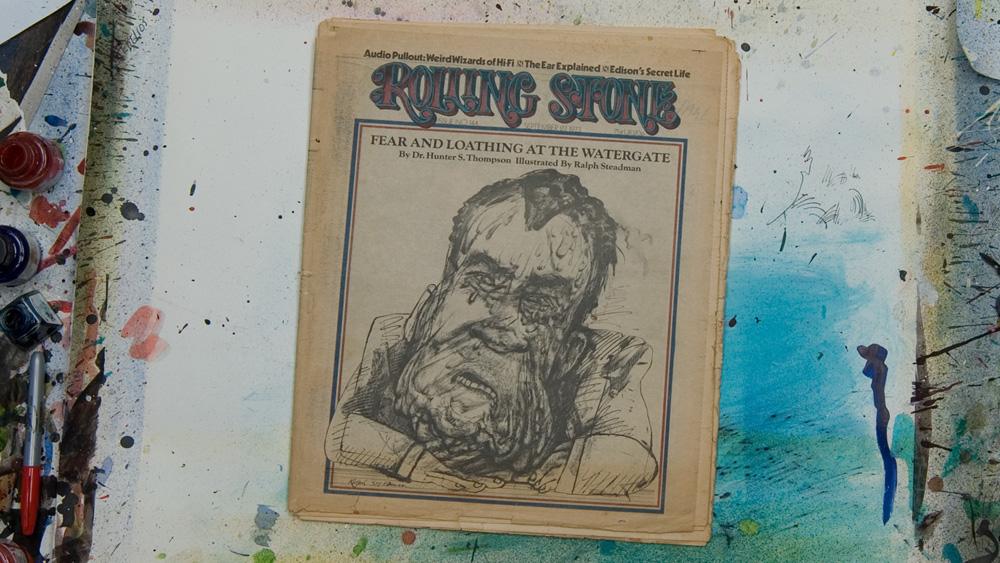 ウォーターゲート事件を報じる『ローリング・ストーン』誌の表紙を飾ったニクソン大統領の風刺画
