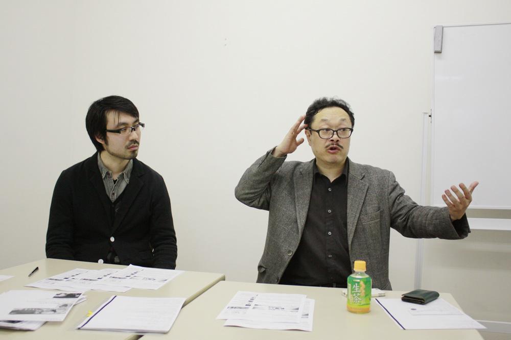 左から、山内康裕、竹熊健太郎(敬称略)