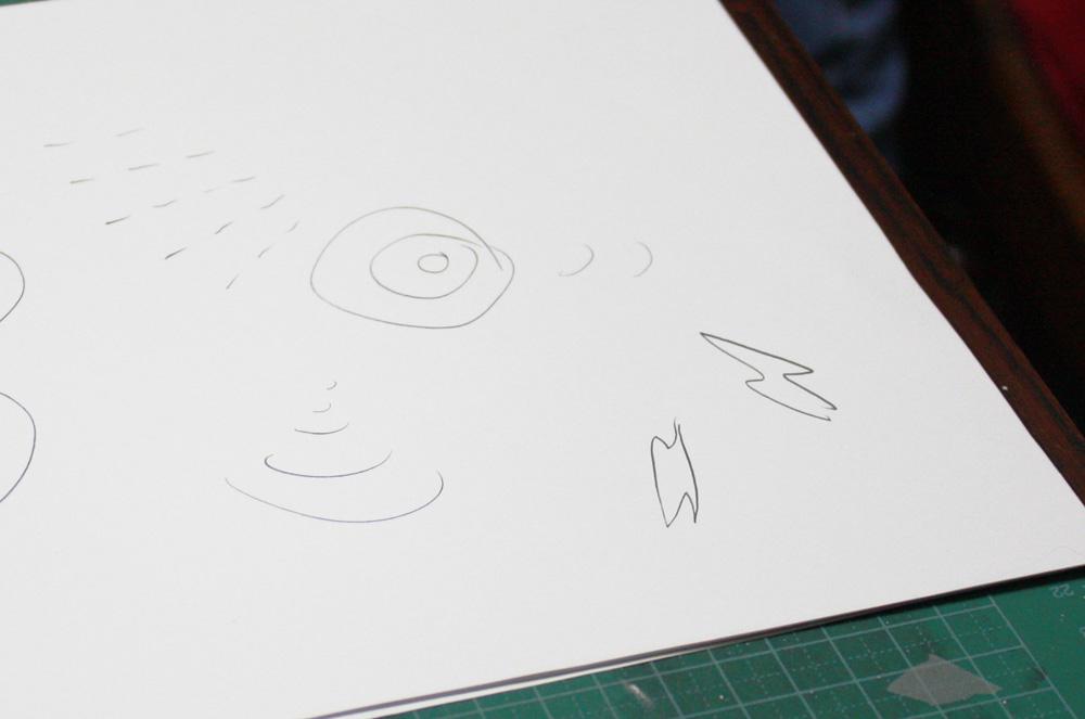 「放射能」を表す漫符の例