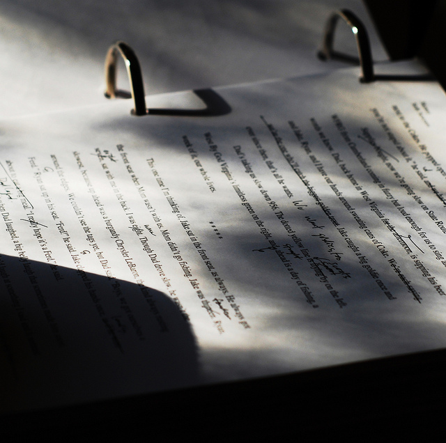 """Manuscript"" Photo by Seth Sawyers[CC BY 2.0]"