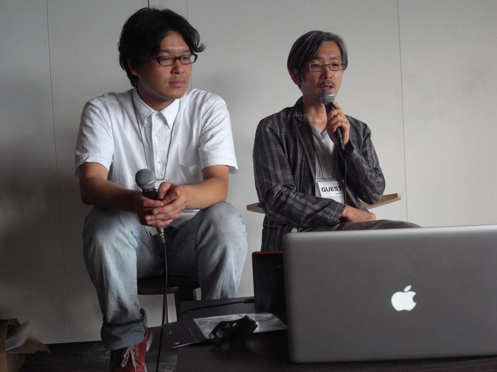 (左から)田中浩也氏、成実弘至氏