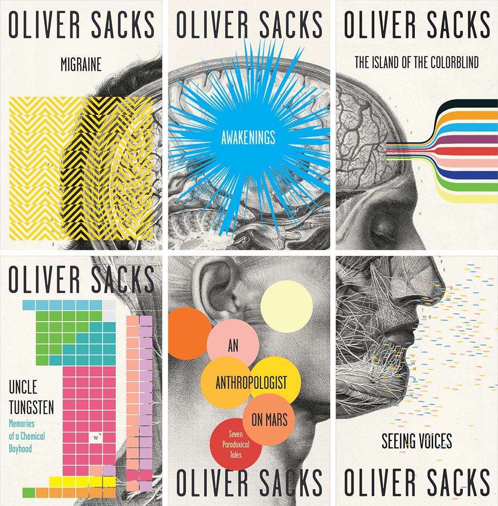 カードン・ウェッブによる、オリバー・サックス本のシリーズデザイン