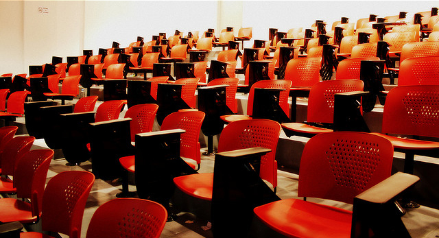 """Perspective: Lecture hall"" Photo by Taqi®™[CC BY 2.0]"