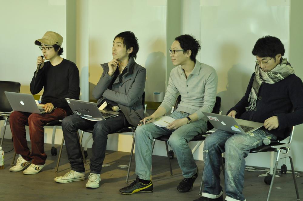 (左から)永井幸輔氏、馬場貞幸氏、鄭一志氏、水野大二郎氏