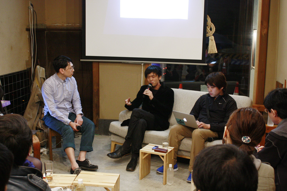 左から、兼松佳宏氏、太刀川英輔氏、井野英隆氏。