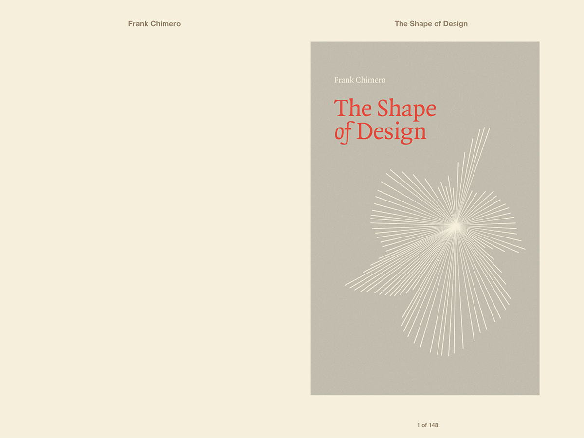 『SHAPE OF DESIGN』表紙