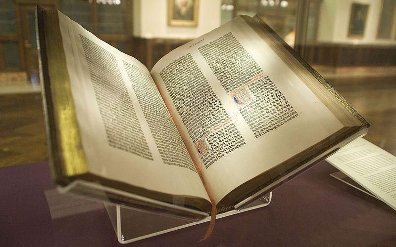 グーテンベルク聖書(どのページも、表紙のようだ)