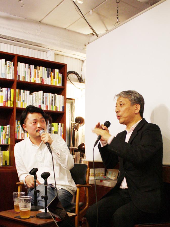 (左から)内沼晋太郎、後藤繁雄(敬称略)