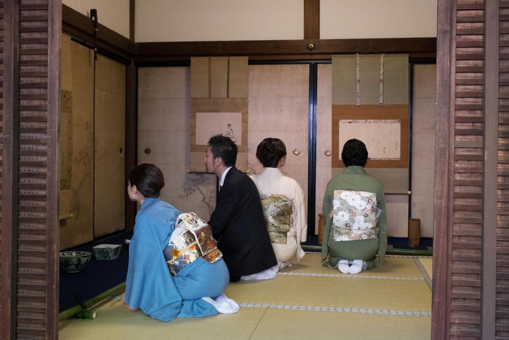 2014年11月29日、30日に行われた「青花の会」発会記念の特別展観のようす(大徳寺塔頭玉林院にて)
