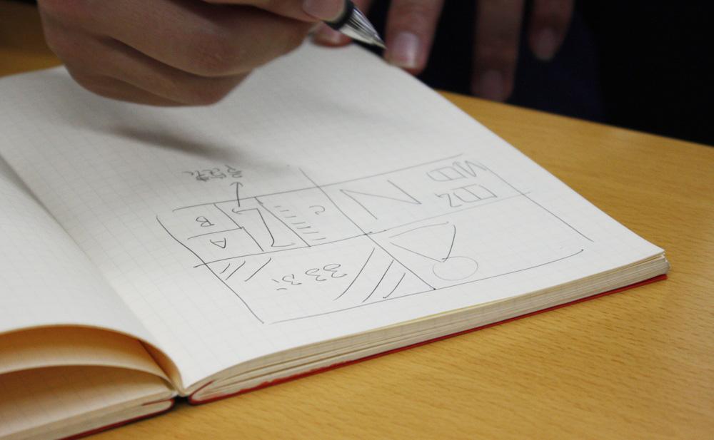 企画当初イメージしていた「白いキャンバス」。最終的には編集されたページの単位を重視する方針に