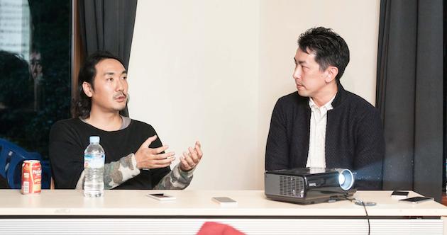 (左から)大月壮さん、谷口マサトさん