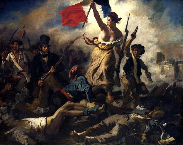 ウジェーヌ・ドラクロワ「民衆を導く自由の女神」