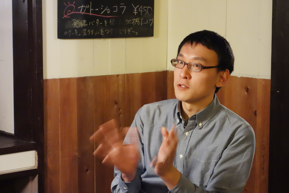 bookcafe kuju店主・柴田哲弥さん