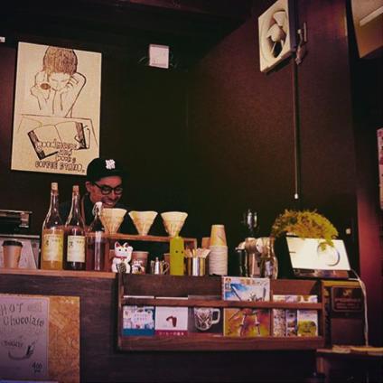 オープンした『Good music and books coffee stand』