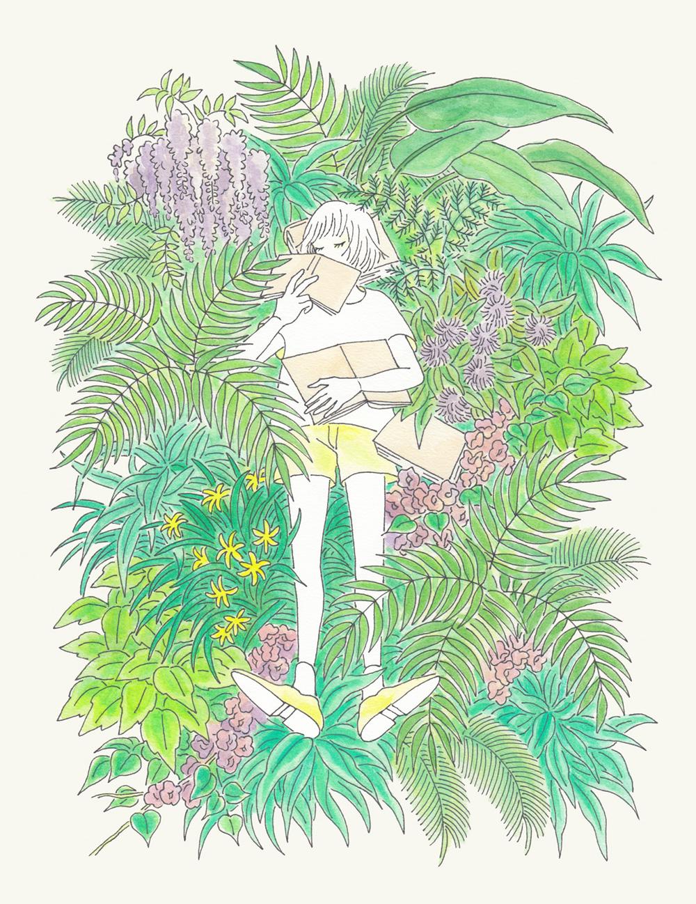 今月の1枚:『5月の庭で待つ』(※クリックで拡大できます)