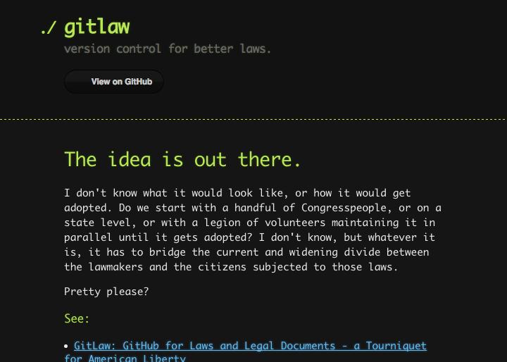 GitLaw(スクリーンショット)