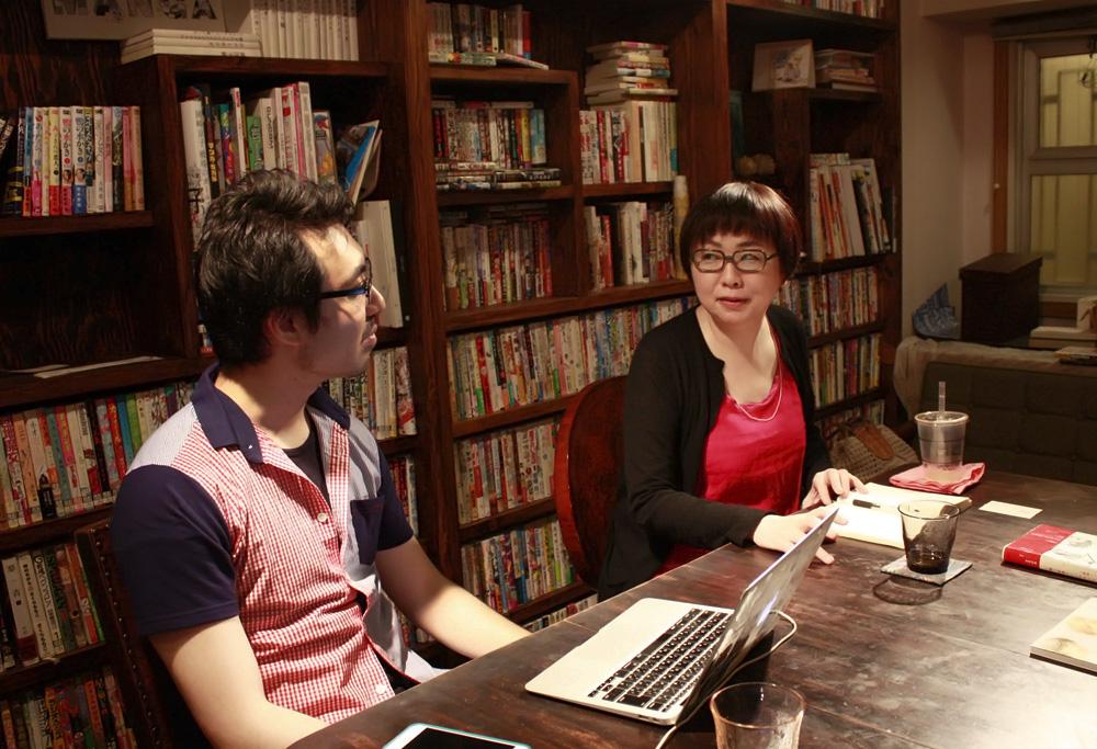 (左から)山内康裕さん、福田里香さん