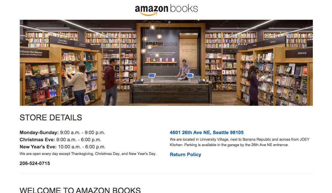 Amazon.com内、「Amazon Books」紹介ページより(スクリーンショット)