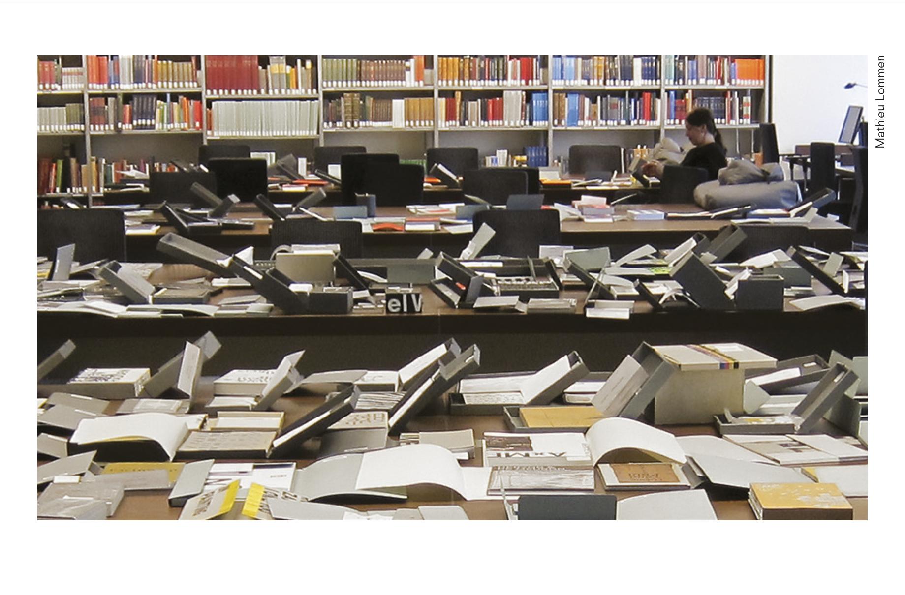 アムステルダム大学にある、イルマ・ボーム氏の手がけた書籍のアーカイブ