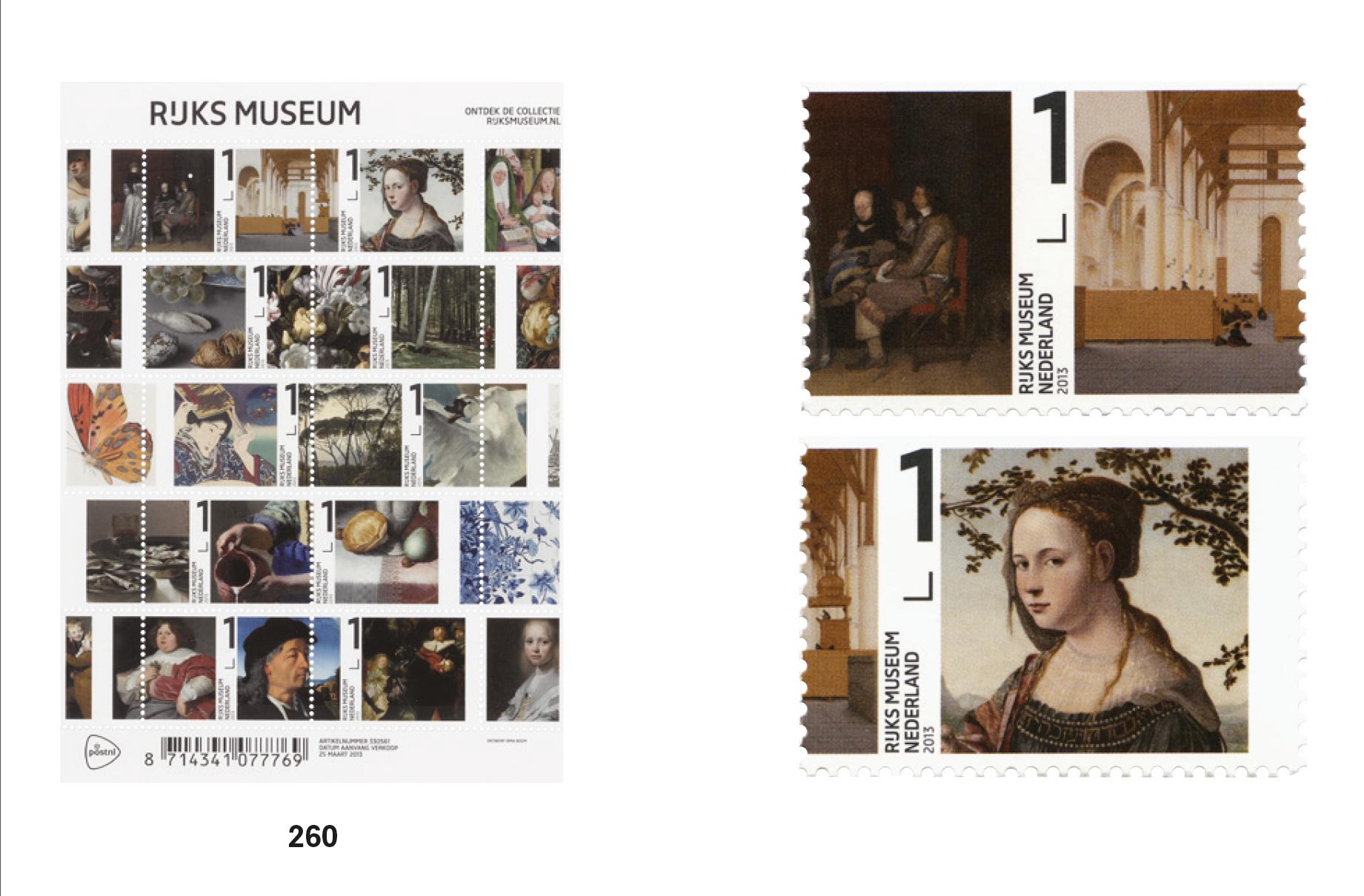 RIJKS MUSEUM(アムステルダム国立美術館)のオリジナル切手