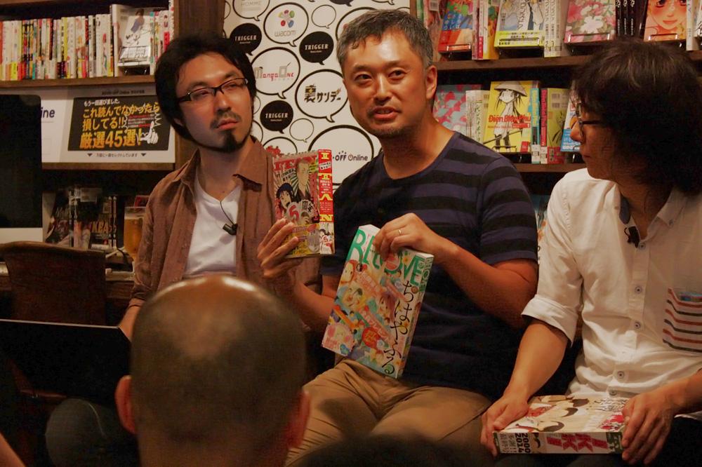 (左から)山内康裕さん、岩間秀和さん、江上英樹さん