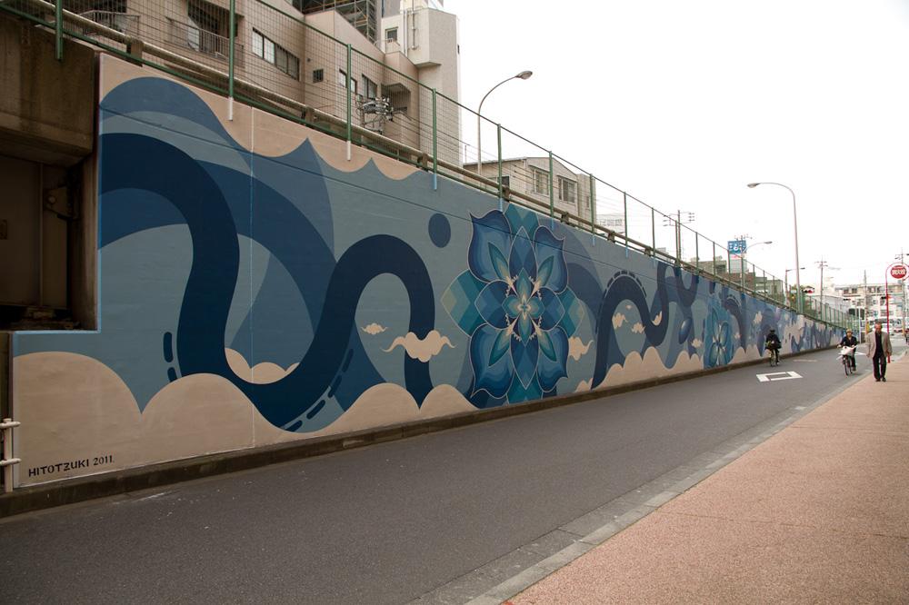 「根本壁画」(2011年制作)。「MAD WALL」の反対側が使用された