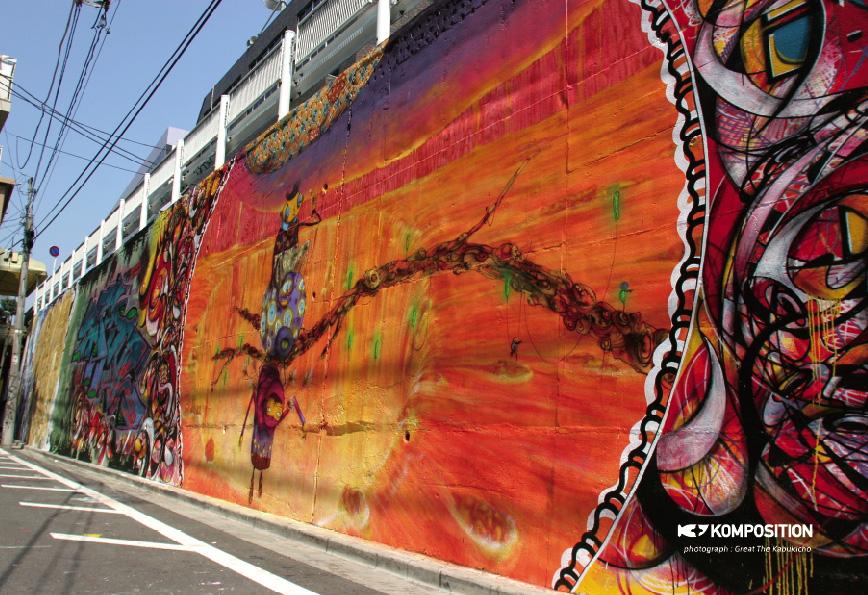 渋谷区宇田川町のリーガルウォール(2005年)