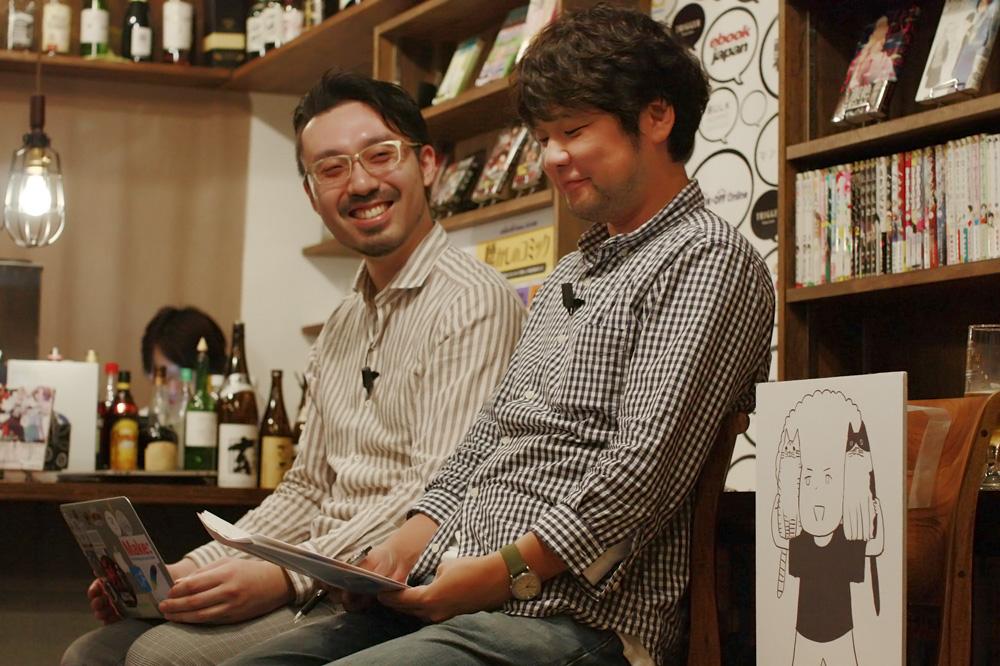 (左から)山内康裕さん、豊田夢太郎さん、野田彩子さん(パネル)