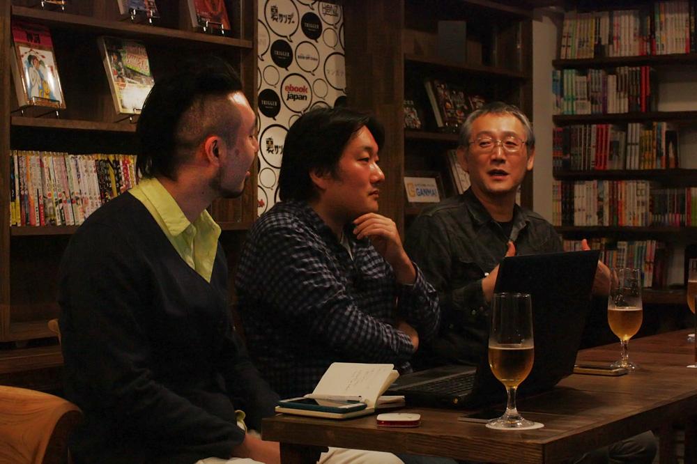 (左から)山内康裕さん、柿崎俊道さん、田中圭一さん