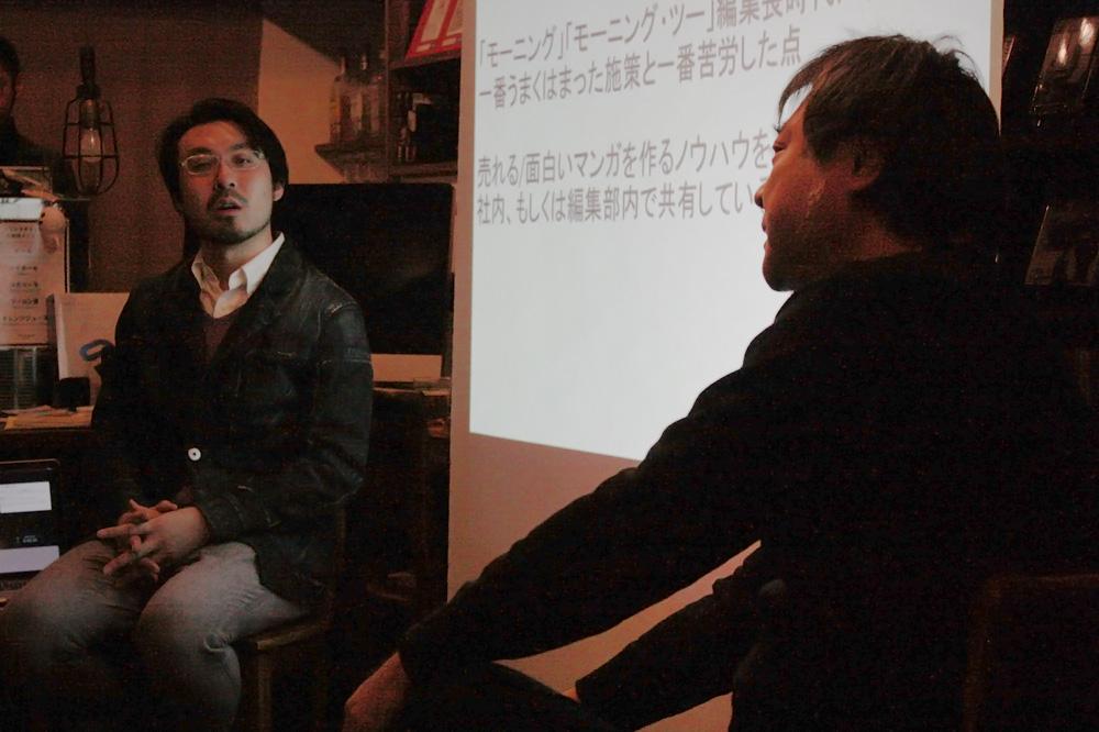 (左から)山内康裕さん、島田英二郎さん