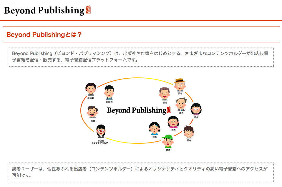 「Beyond Publishing」のウェブサイトより(スクリーンショット)