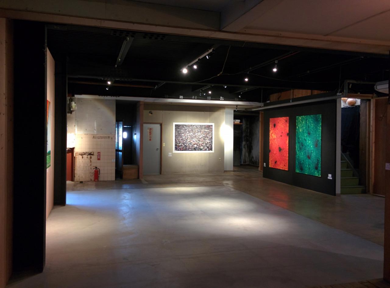 いわき市平地区で開催されているアートフェス「玄玄天」の展示風景