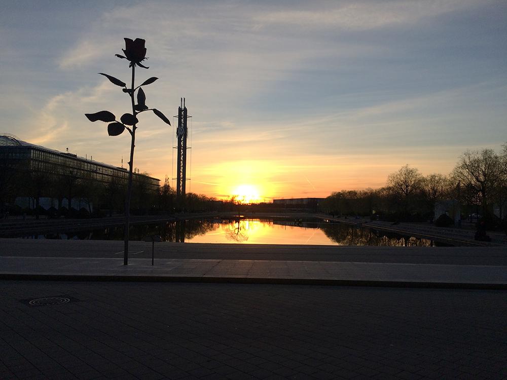 毎年この夕陽を見ながら感慨深い気持ちで帰ります