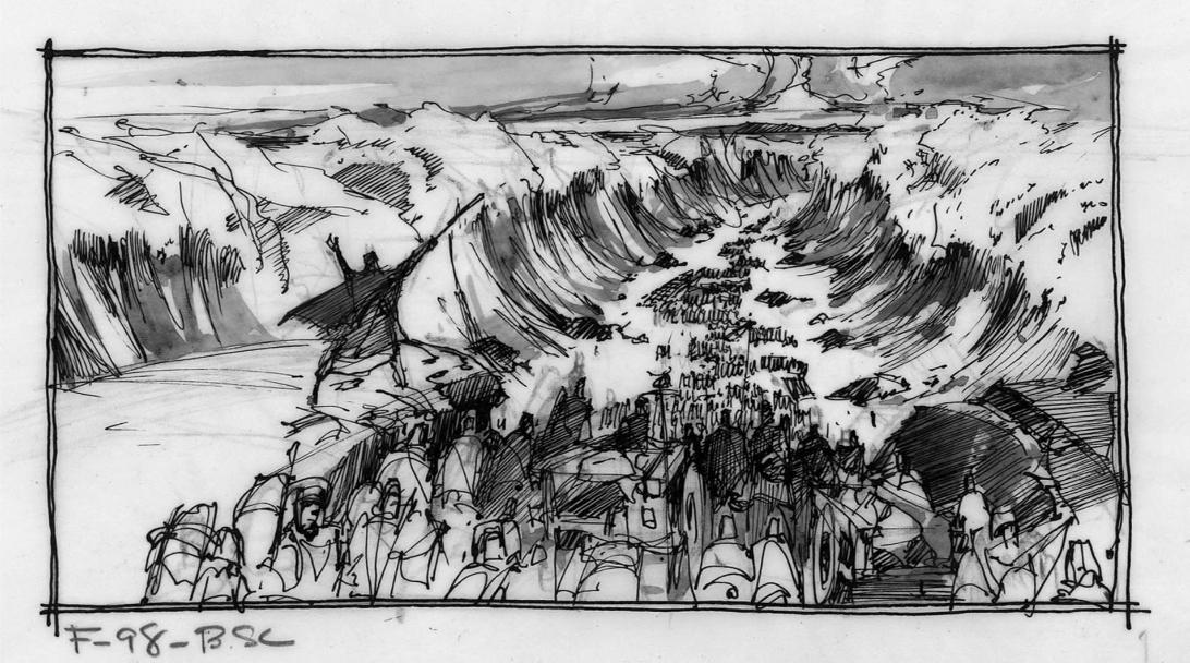 『十戒』(1956)の絵コンテ/『ハロルドとリリアン ハリウッド・ラブストーリー』より ©2015 ADAMA FILMS All Rights Reserved