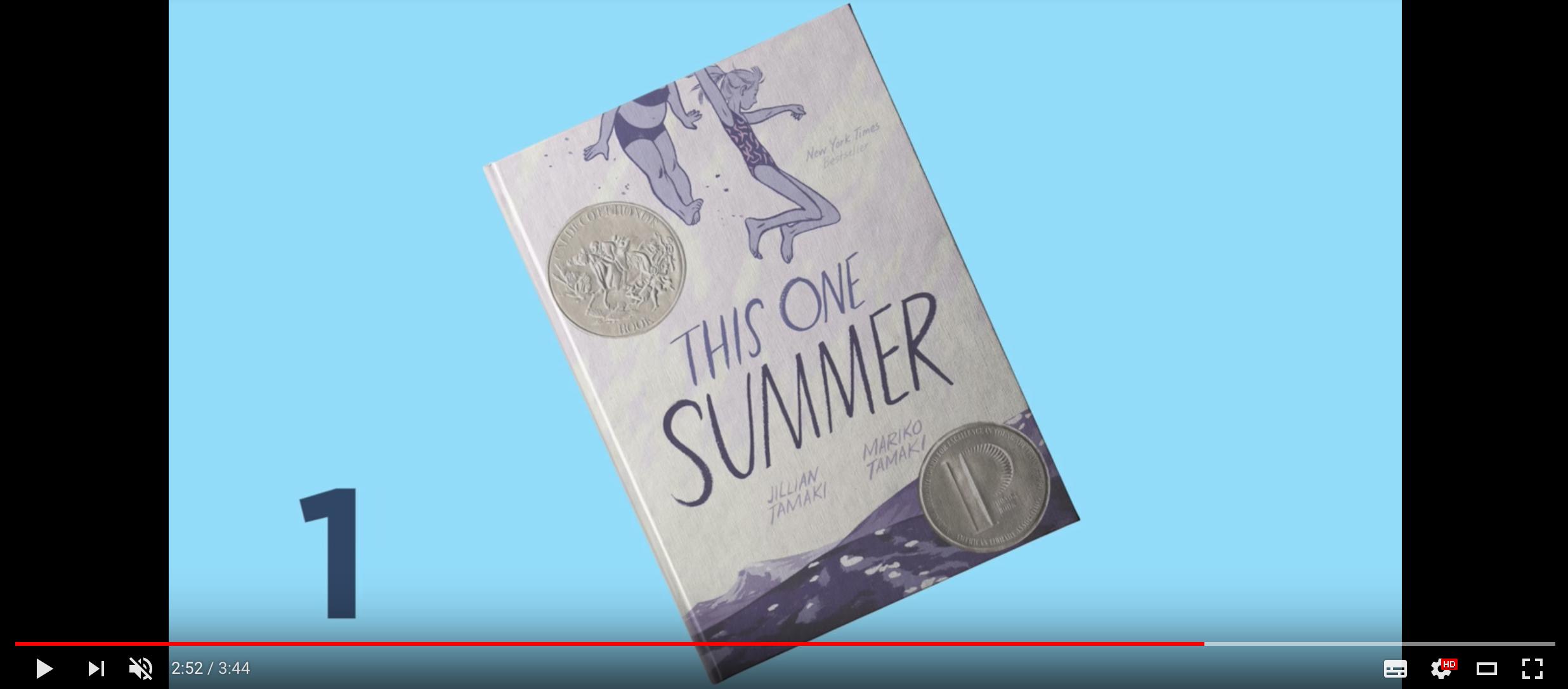 マリコ・タマキ & ジュリアン・タマキ『This One Summer』(動画「Top Ten Challenged Books of 2016」よりスクリーンショット)