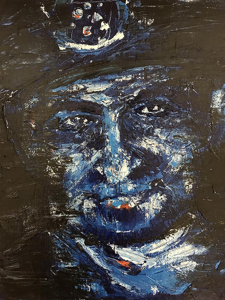 小田監督による、炭鉱夫を描いた絵