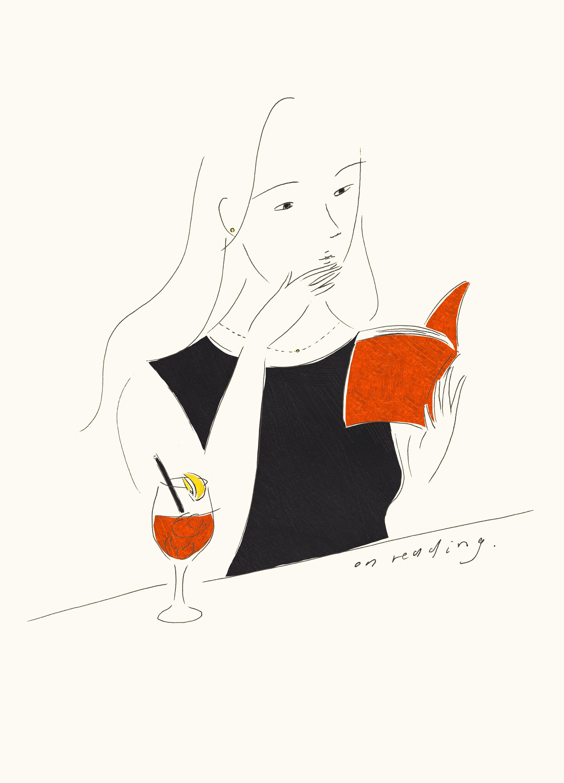 今月の一枚「on reading」(※クリックで拡大できます)