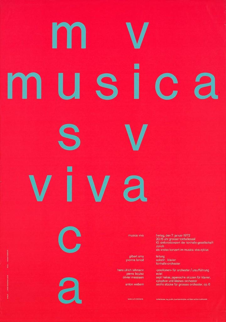 ムジカ・ヴィヴァ、1972年、竹尾ポスターコレクション所蔵