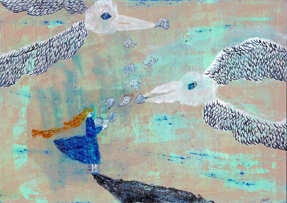 今月の1枚「ことばをたべる鳥」(※クリックで拡大できます)