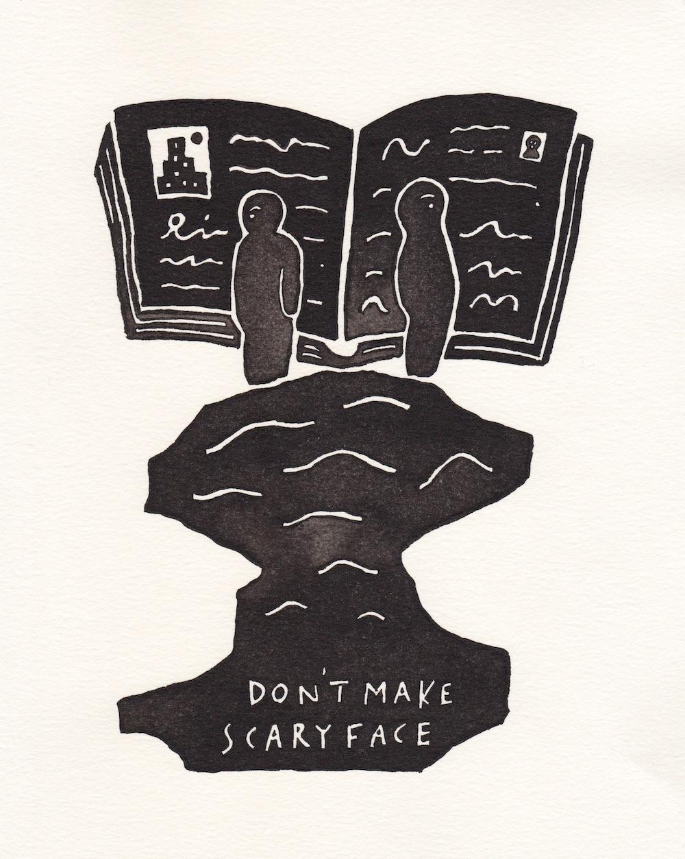 今月の1枚「don't make a scary face / 怖い顔しないで」(※クリックで拡大できます)